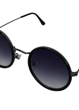 Óculos de sol feminino blogueira hype redondo bold preto