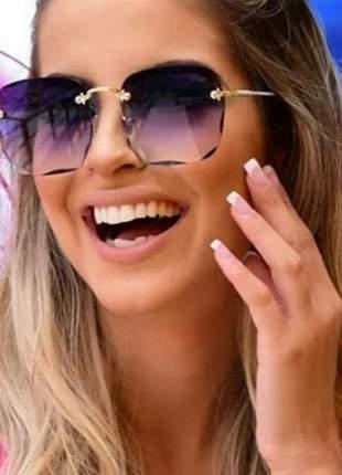 Óculos de sol feminino rosto fino redondo quadrado promoção