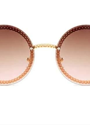 Óculos feminino redondo modinha 2021