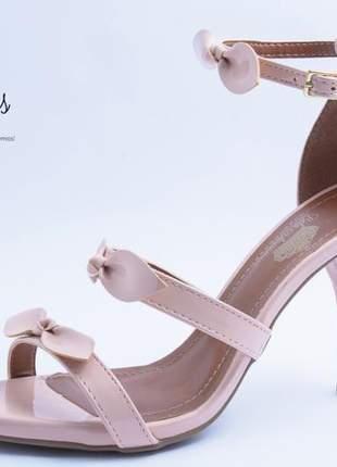 Sandália feminina festa rosa quartzo salto fino
