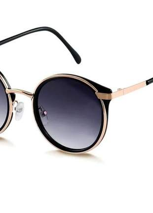 Óculos de sol madrid redondo dsm original roxo degradê