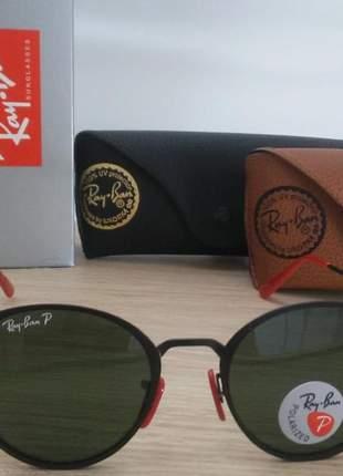 Óculos ray ban blaze round scuderia ferrari edição limitada