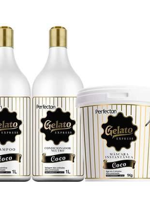 Kit vizet profissional gelato coco nutrição e hidratação (4 itens)