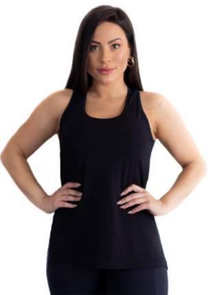 Regata Fitness Feminina Tapa Bumbum Preto