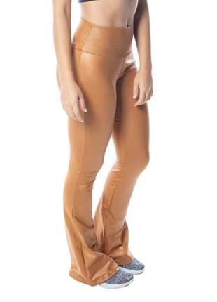 Calça Legging Flare  Feminina Cirre  Caramelo