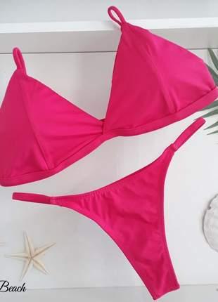 Biquini retro fininha - pink