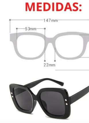 Oculos de sol feminino moda luxo total com estojo