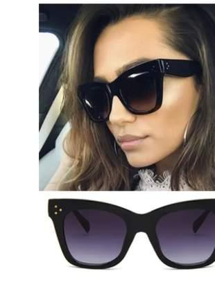 Oculos de sol gatinho grande oversized feminino com estojo