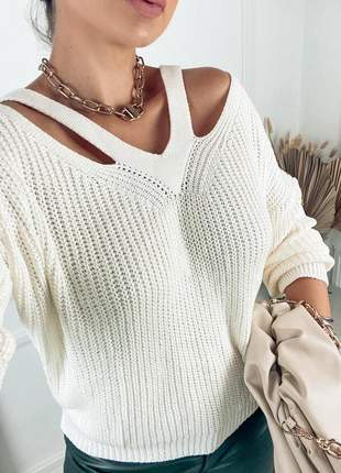 Blusa tricot fang vazado