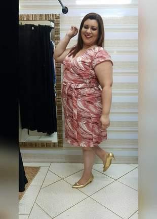 Vestido linho plus size