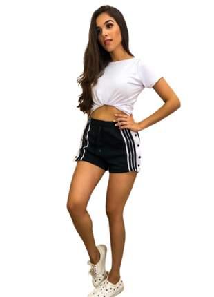 Short botões na lateral roupas femininas