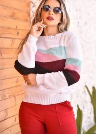 Blusa tendência na moda tricot arrase nesse outono e inverno