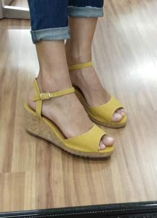 5ce59aa2e Sandalia feminina anabela amarela dali shoes - R$ 59.90 #9961 ...