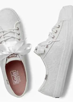 Tenis feminino branco renda keds