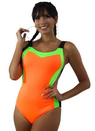 Body GR Esporte Neon Laranja com Alça Feminino