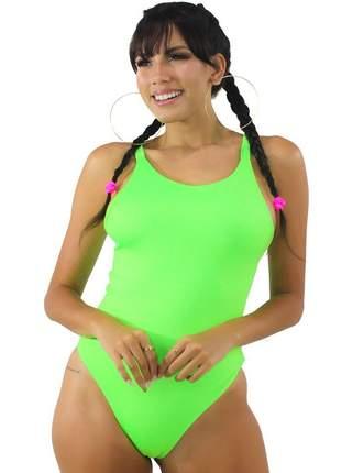 Body Neon Basic GR Esporte Verde Feminino