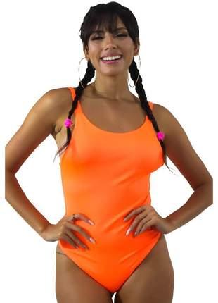 Body GR Esporte Neon Basic Laranja Feminino