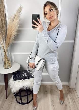 Blusa manga longa em lãzinha