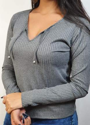 Conjunto moletinho calça e blusa malha canelada parcelado envio imediato
