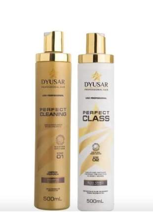 Kit escova progressiva perfect class dyusar 500 ml