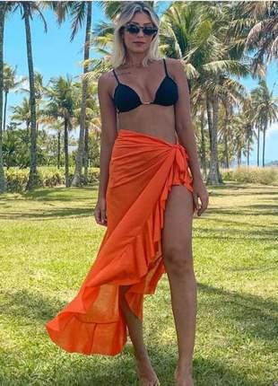 Saia longa saída praia envelope pareô tendência verão envio imediato