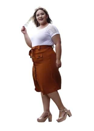 Saia midi moda evangélica plus size roupas femininas