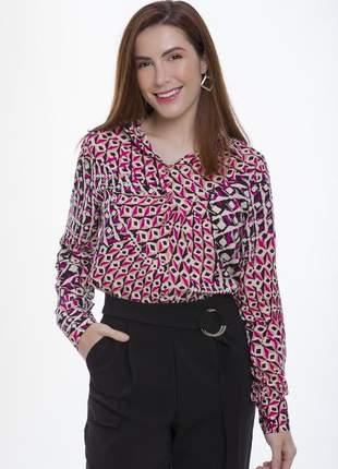 Blusa camisa social feminina viscose estampada moda 2021