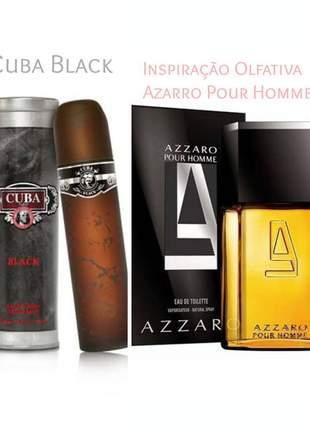 Perfume importado cuba black 100 ml (azzaro) - azzaro por homme