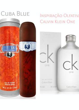 Perfume importado cuba blue 100 ml (ck one) - calvin klein one