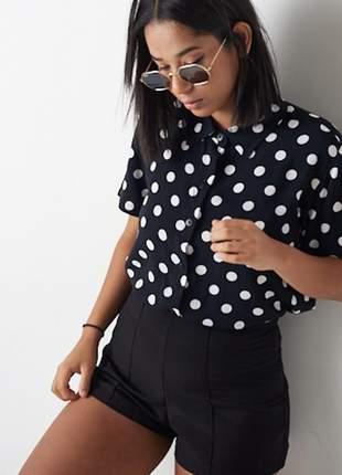 Camisa botões poá