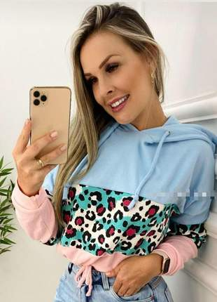 Blusa tricolor onça linda