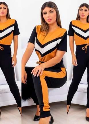 Conjunto calça e blusa luxo – envio rápido