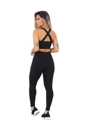 Kit 3 conjuntos fit fitness feminino
