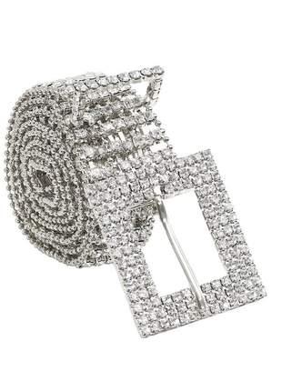 Cinto de strass fashion blogueiras moda feminina r:1064(prata)