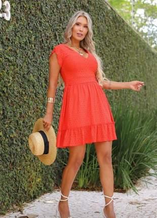 Vestido feminino de lasse terracota