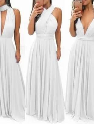 Vestido longo comprido feminino várias formas multiuso infinit festa blogueiras