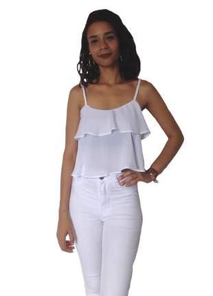 Blusa feminina cropped - branca