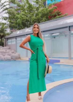 Vestido longuete malu verde