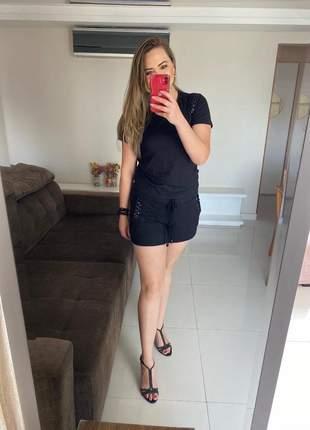 Conjunto catarina shorts suede