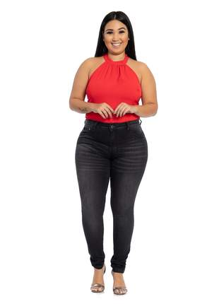Calça Skinny Cintura Alta Plus Biotipo