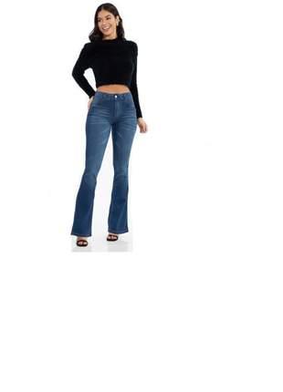 Calça jeans feminina flare biotipo