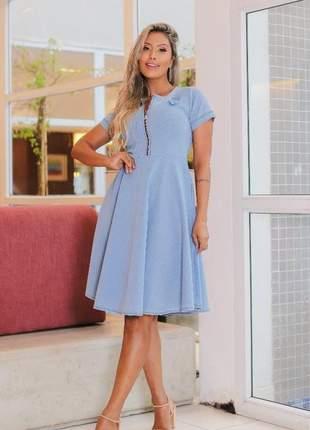 Vestido midi zíper| moda evangélica | moda feminina | moda secretária