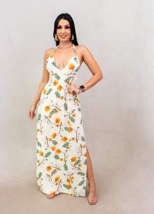 Vestido viscose longo floripa