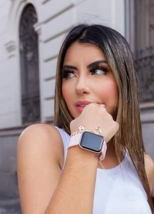 Relogio smartwatch feminino inteligente digital várias funções + brindes