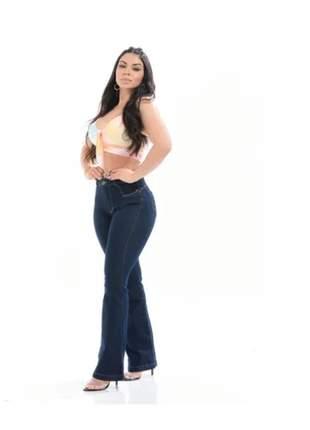 Calças jeans femininas hot pants flare cintura alta promoção