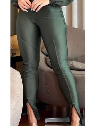 Calça prada® original com ziper cintura barra (sem bolso) tecido super grosso