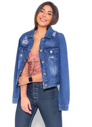 Jaqueta Jeans Feminina Curta Revanche