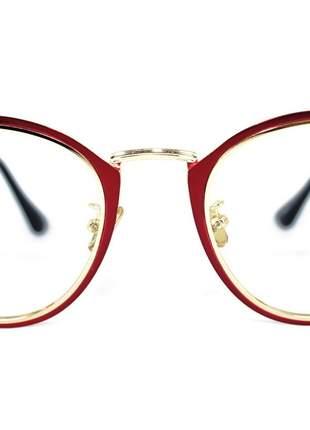 Óculos de Grau Feminino Vermelho Rafaello RFAF22 Metal Color