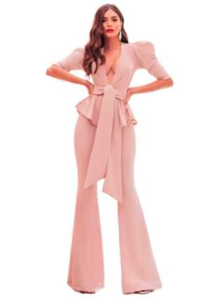 Macacão Feminino Longo Pantalona Nice com Laço Rosa