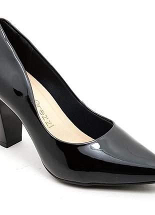 Sapato feminino scarpin firezzi verniz preto